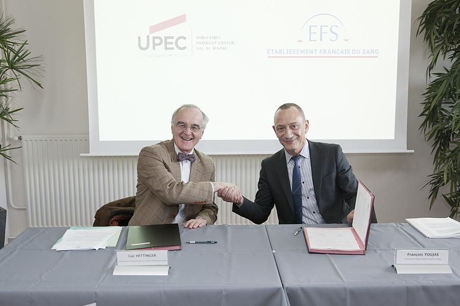 Signature de convention de partenariat avec l'Etablissement Français du Sang EFS