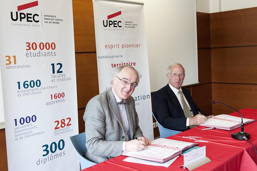 L'UPEC et le Pôle Allongement de la Vie Charles Foix signent une convention de partenariat
