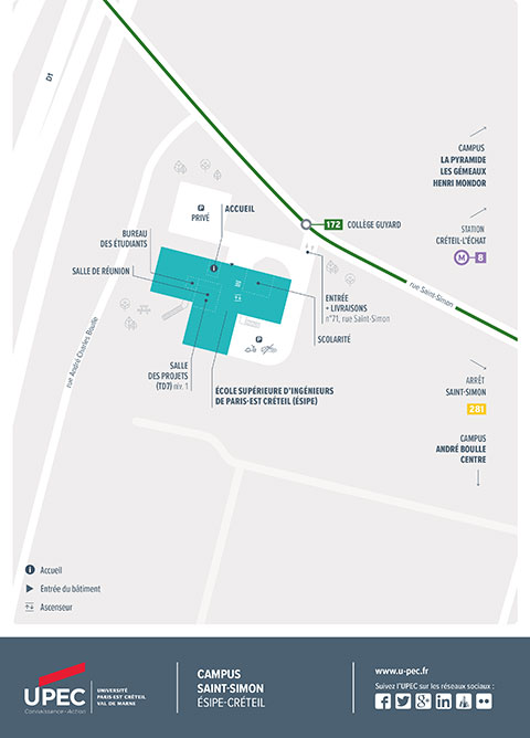Plan du Campus Saint-Simon