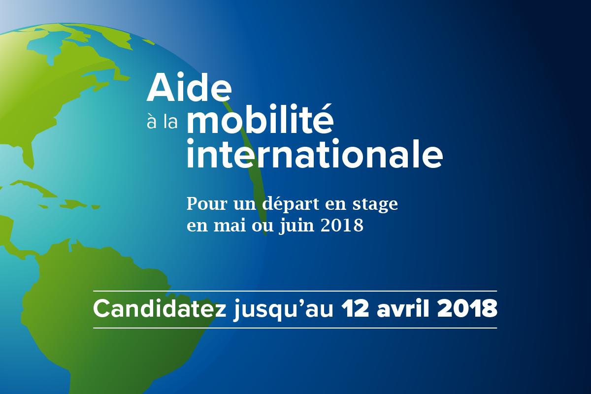 Aides à la mobilité : candidatures du 23 mars au 12 avril 2018