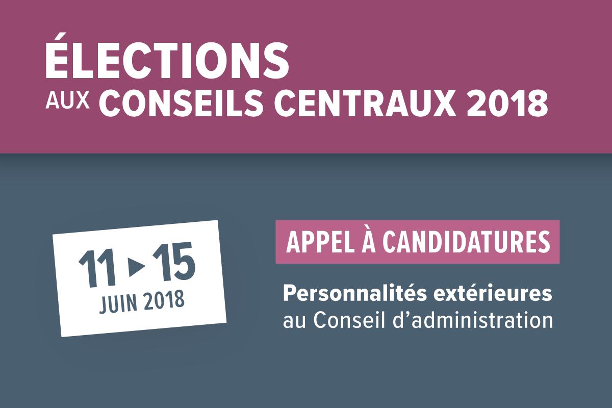 Elections appel à candidatures