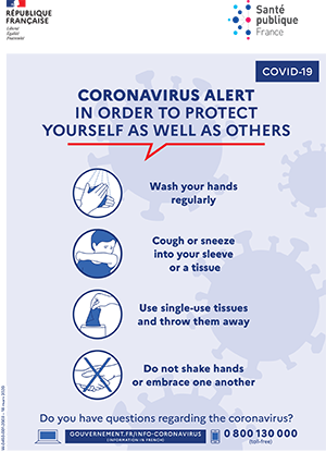 CORONAVIRUS ALERT IN ORDER TO PROTECT YOURSELF AS WELL AS OTHERS