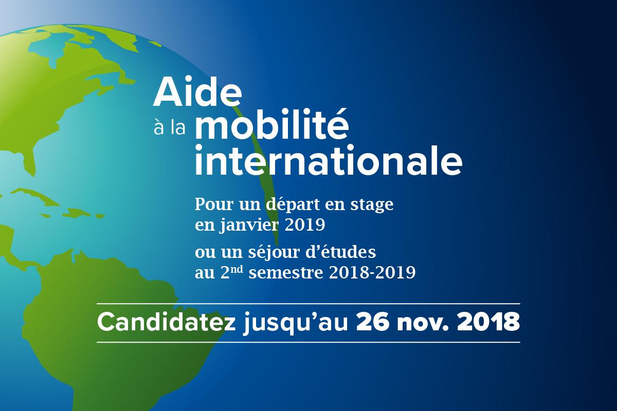 Aides à la mobilité : candidatures du 5 au 26 novembre 2018