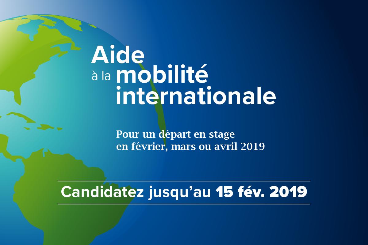 Aides à la mobilité : candidatures du 25 janvier au 15 février 2019