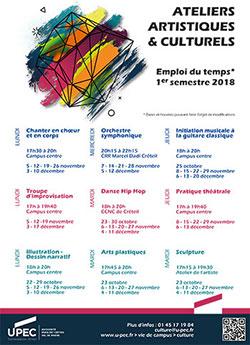 """Plaquette des ateliers """"Arts et culture"""""""