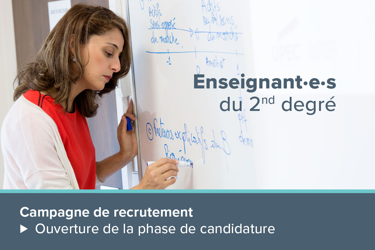campagne de recutement enseignants second degré