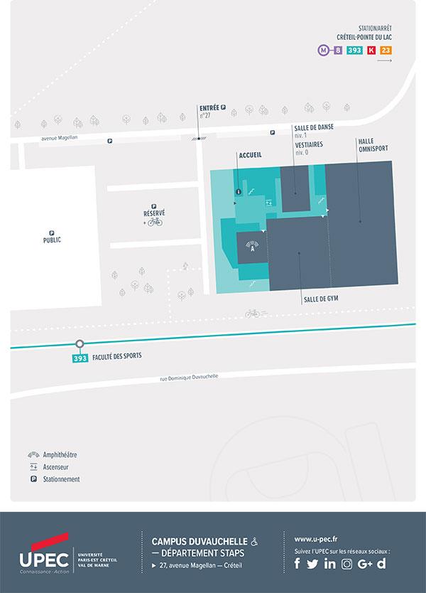 Carte du campus Duvauchelle