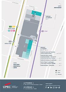 Carte du campus La Pyramide - Les Gémeaux