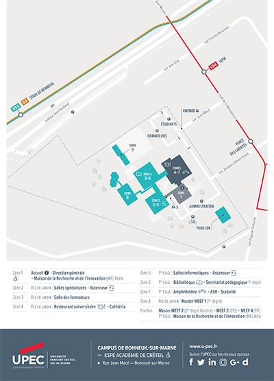 Plan du Campus de Bonneuil