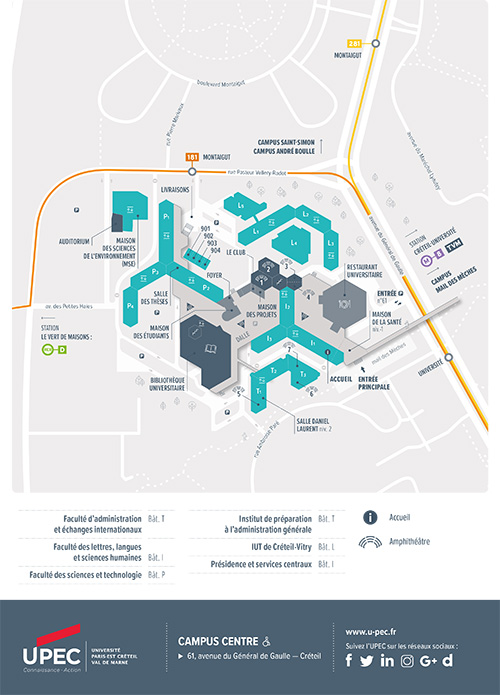 Carte du Campus centre