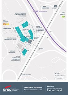 Carte du Campus mail des Mèches