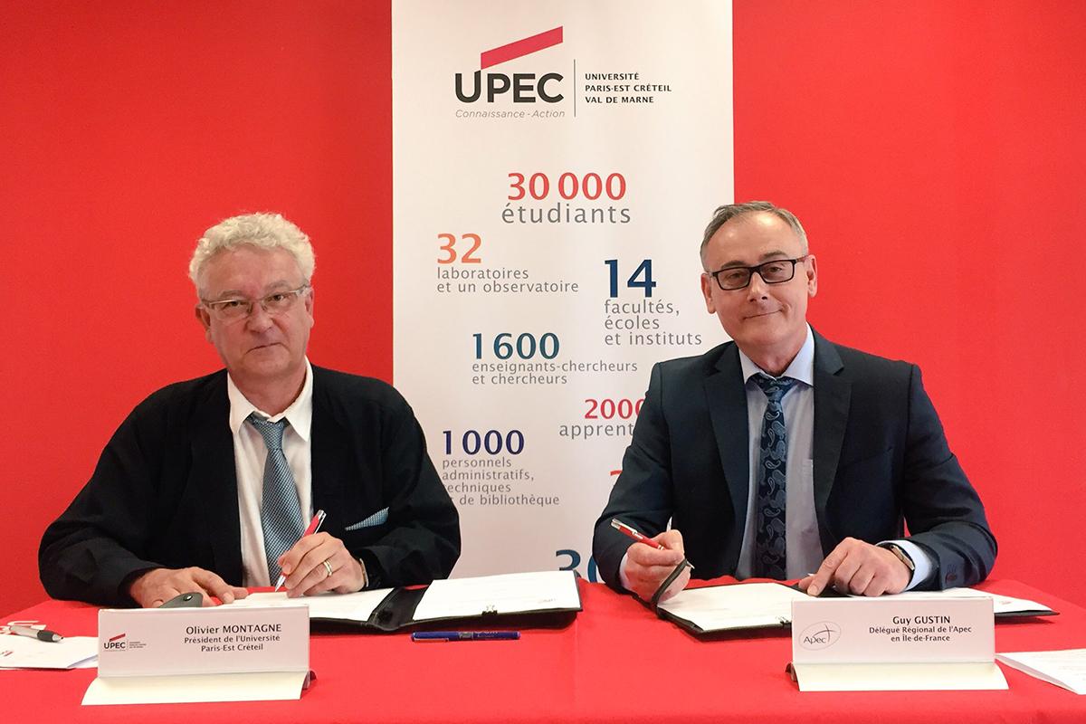 Signature de convention entre l'UPEC et l'APEC