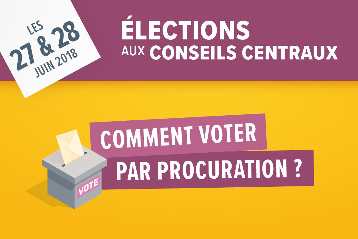 Élections aux conseils centraux de l'UPEC : comment voter par procuration ?