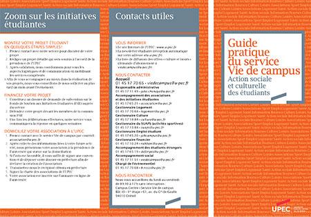 Guide pratique du service Vie de campus pour les étudiants