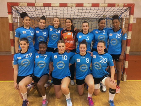 L'équipe féminine de handball de l'UPEC - Championne FFSU 2017