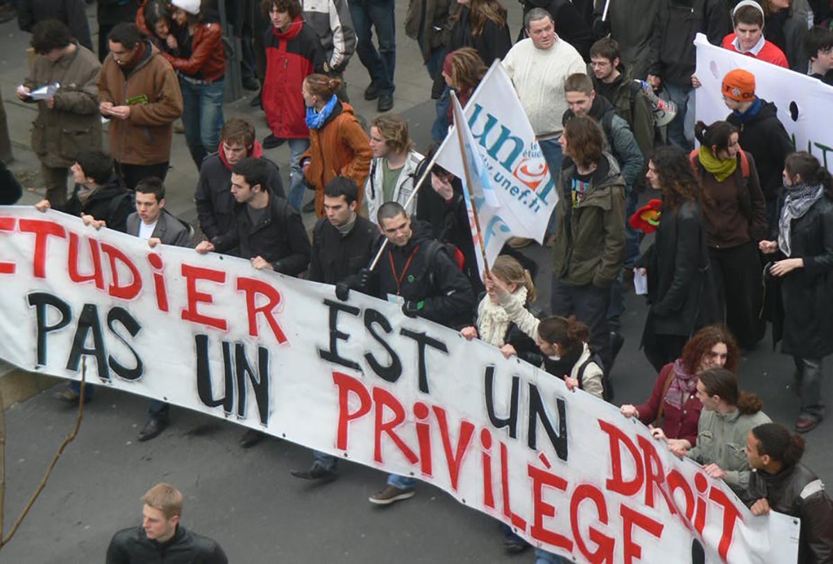 Manifestation à Nantes le 5 mars 2009 contre la réforme de l'enseignement supérieur.