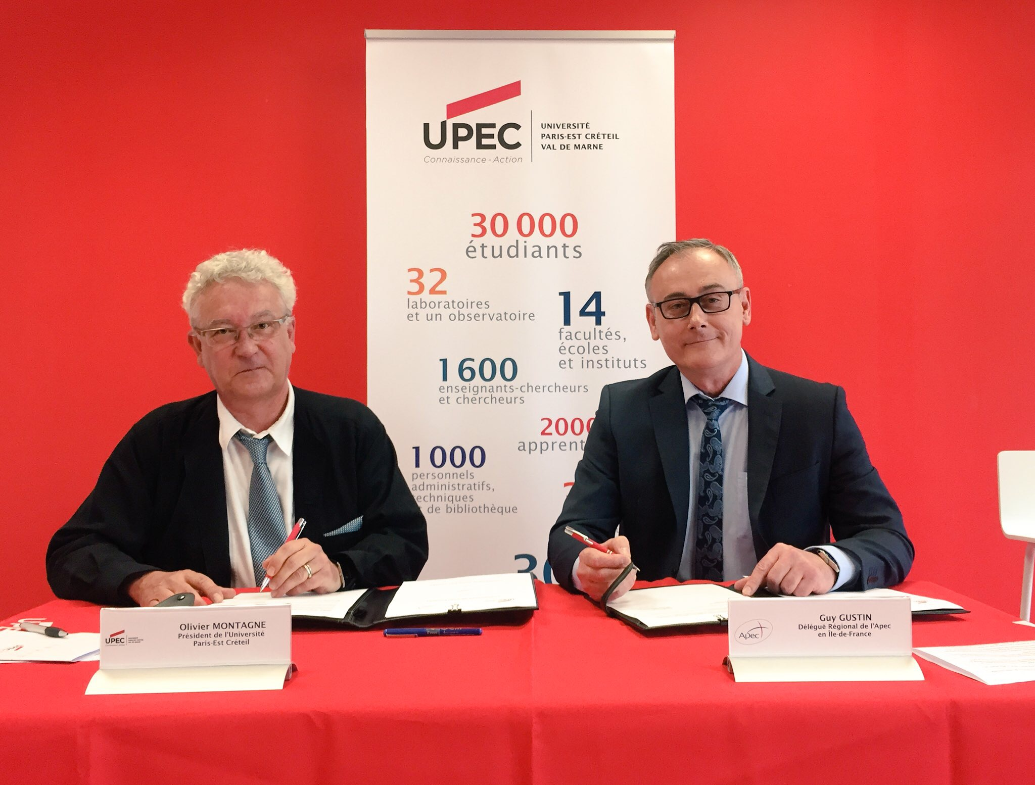 Signature de convention UPEC-APEC