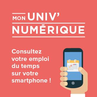Emploi du temps sur smartphone - UPEC