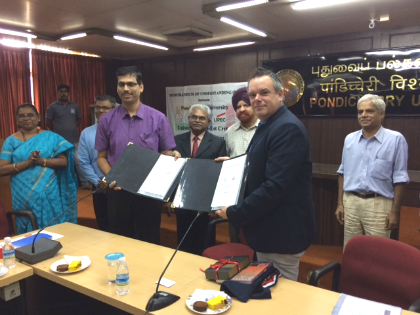 Signature MoU Université de Pondichéry