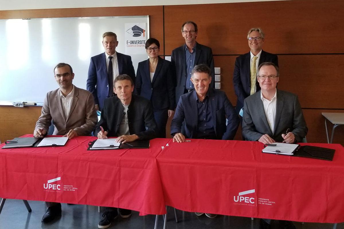 Signature de convention UPEC - Icademie