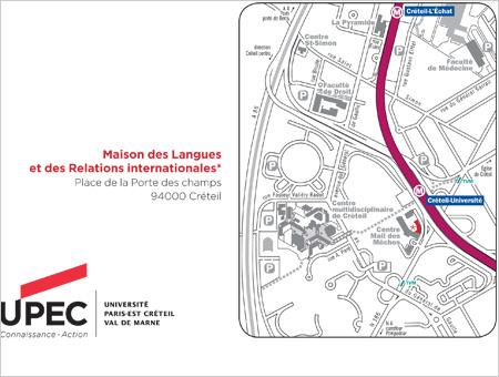 Plan d'accès à la Maison des Langues et des relations internationales