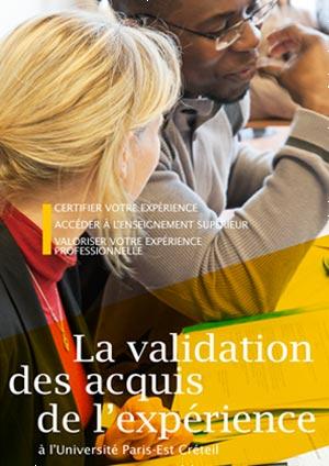 """Plaquette """"La validation des acquis de l'expérience (VAE) à l'UPEC"""""""