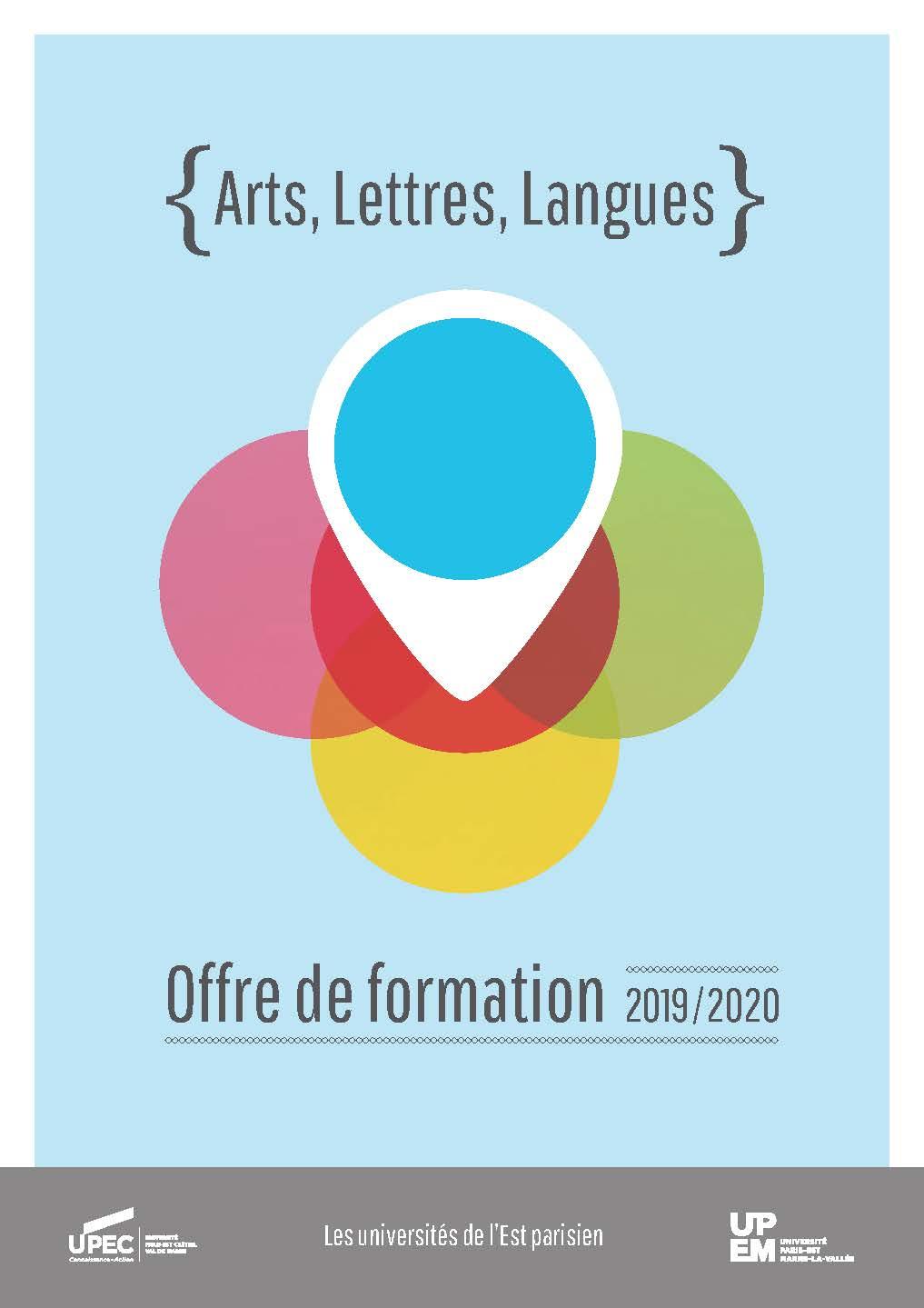Plaquette offre de formation UPEC-UPEM arts lettres langues