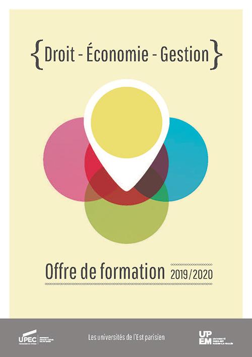 """Plaquette UPEC - UPEM """"Droit, Économie, Gestion"""" 2019-2020"""