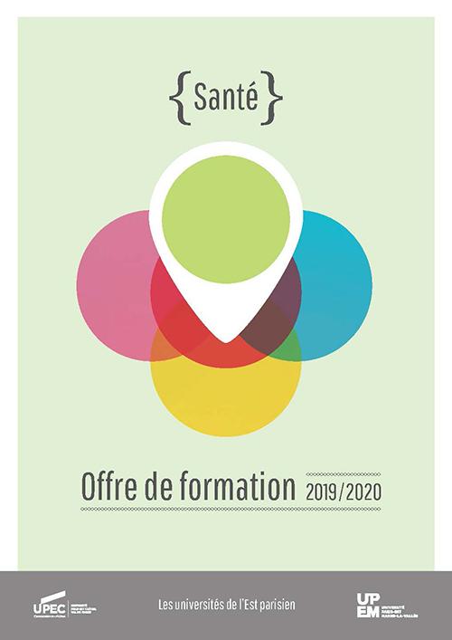 """Plaquette UPEC - UPEM """"Santé"""" 2019-2020"""