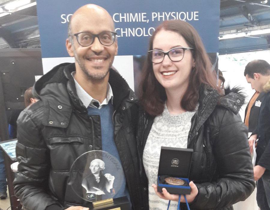 Une étudiante et un enseignant de la faculté de sciences et technologie lauréats du prix Lavoisier de l'apprentissage