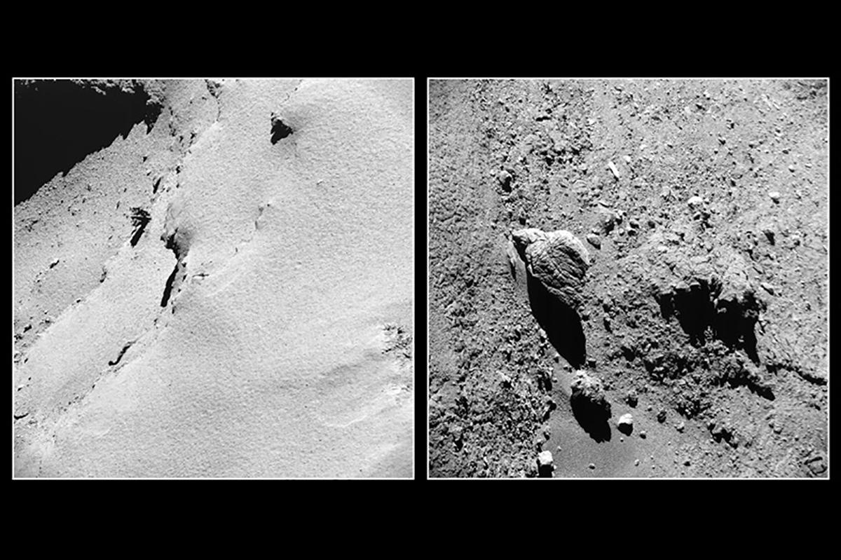 Rosetta vue de près cc ESA/Rosetta/NavCam – CC BY-SA IGO 3.0