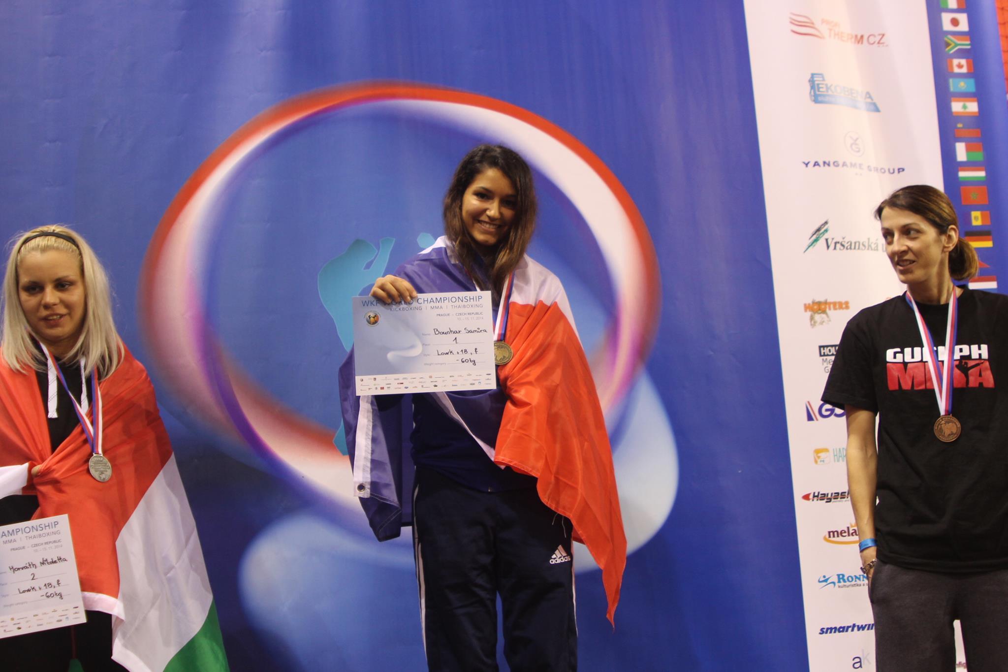 Une étudiante de l'UPEC championne du monde de kick-boxing