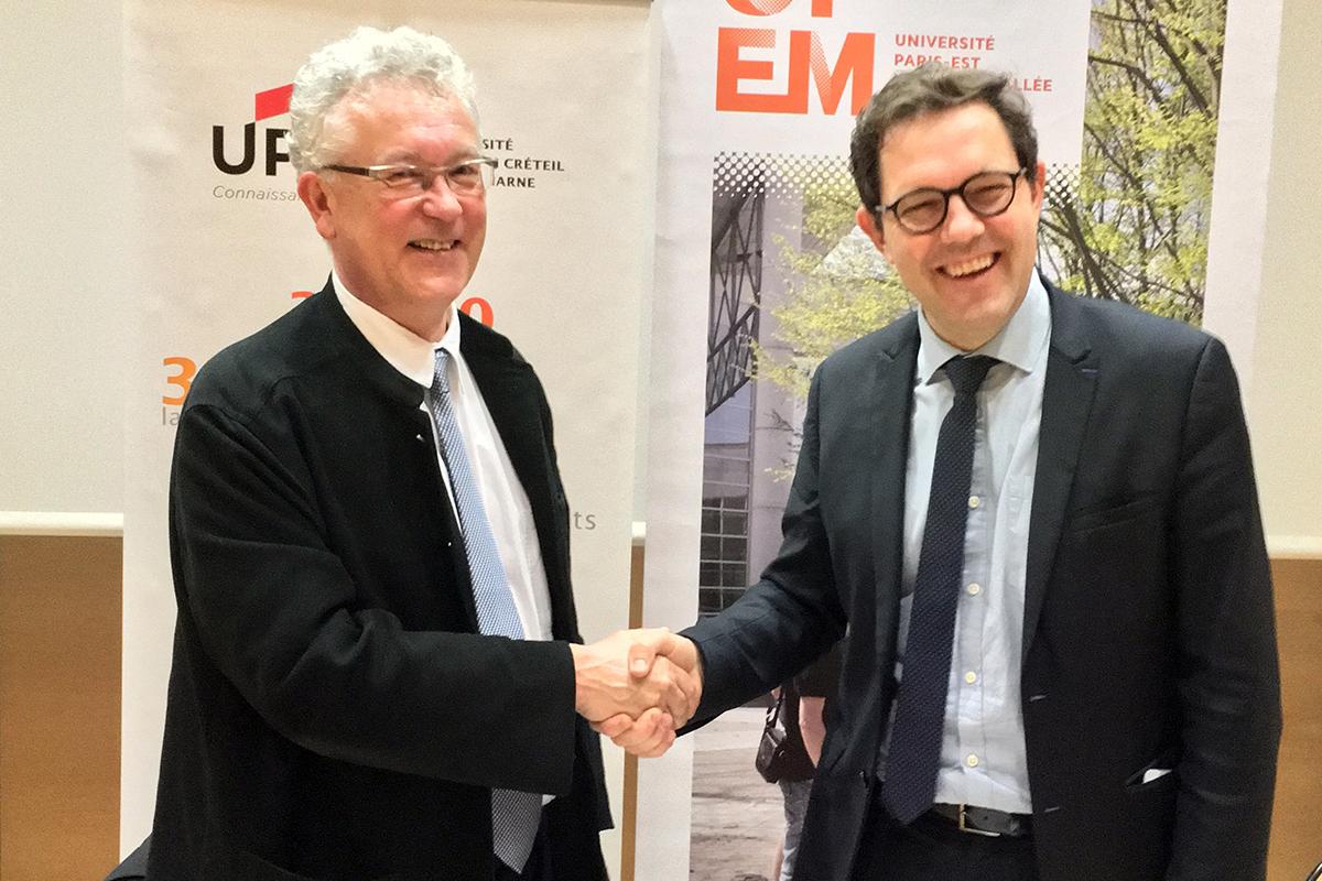 Signature de convention entre l'UPEC et l'UPEM pour l'IAE