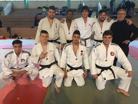 Judo : l'équipe masculine qualifiée pour les championnats de France