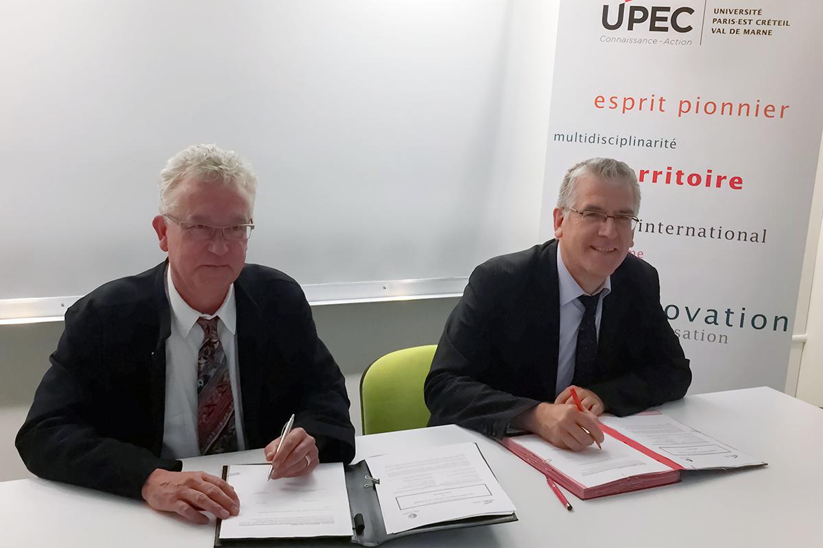 Signature de convention entre l'UPEC et Pole emploi