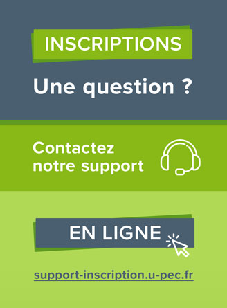 UPEC - Support inscriptions