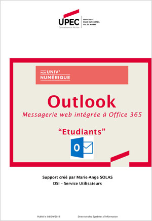 Présentation Messagerie étudiante Outlook Office 365